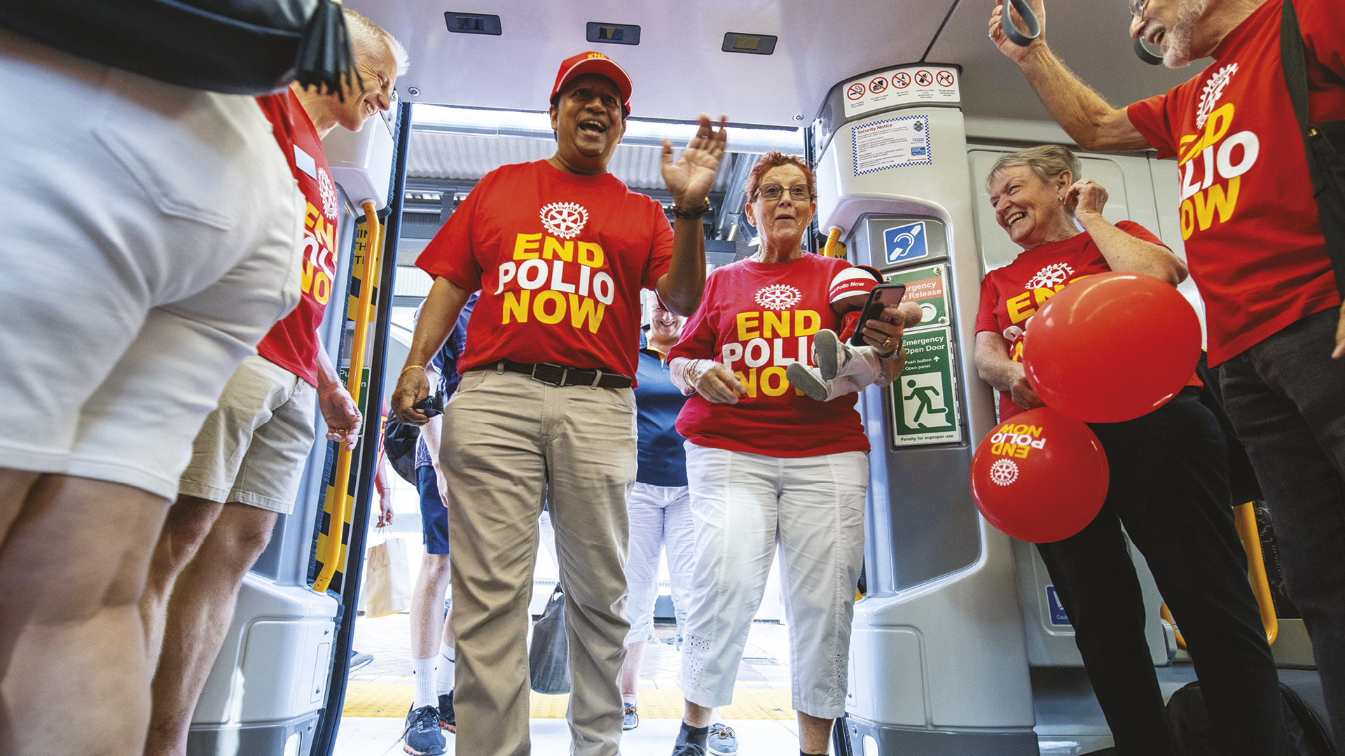 Queensland jumps on board the End Polio Now train